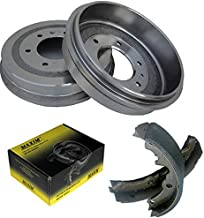 Rear OE Spec Quiet Technology Drums and Perfect Fit Premium Brake Shoes BK50003 | Fits: Century Regal Riviera Camaro El Camino Malibu Monte Carlo S10 S10 Blazer Caballero S15 S15 Jimmy Sonoma Bravada