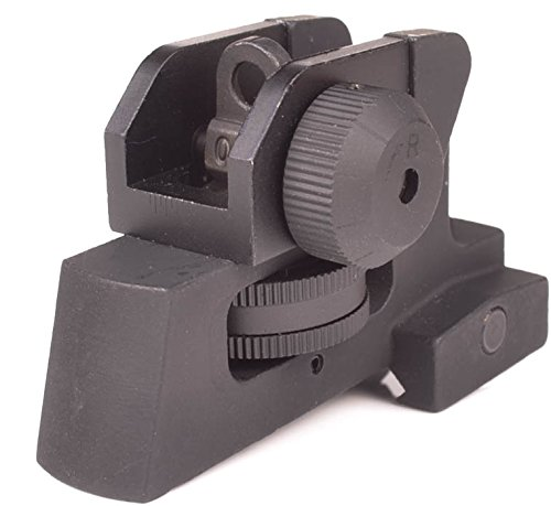 Ozark Armament Rear Iron Sight - Best Military Grade Iron Sight with All Metal Construction - Two Aperture Sight for Close and Precision Targets - Designed to Mount on Picatinny Rails
