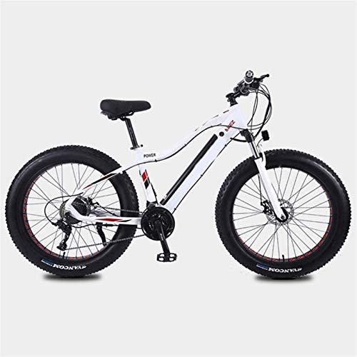 Bici electrica, Las bicicletas de montaña eléctricas 350W 26in Fat Tire E-bici con el sistema de transmisión de 27 velocidades y Tiempo de carga 3 horas de batería de litio (10AH36V), el rango de 35 K