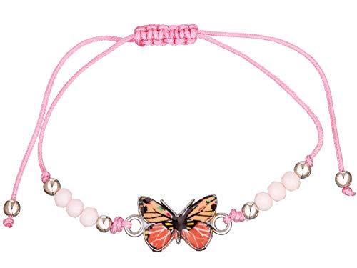 scarlet bijoux | Armband mit Anhänger Schmetterling Textilband grössenverstellbar