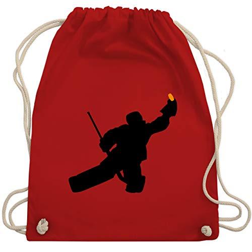 Shirtracer Eishockey - Towart Eishockey Eishockeytorwart - Unisize - Rot - eishockey kinder - WM110 - Turnbeutel und Stoffbeutel aus Baumwolle