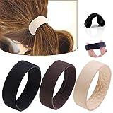 3 unidades de bandas elásticas para extensiones de pelo, coletas elásticas para el pelo, no metálicas