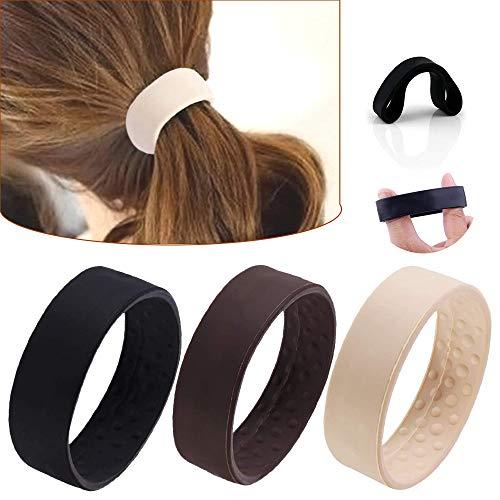 3 unidades de bandas elásticas para extensiones de pelo, coletas de goma para el cabello, bandas elásticas para el pelo, bandas elásticas para el pelo, no metálicas