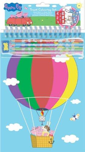 Peppa Pig - Kit De Loisirs Créatifs - Coloriage En Voyage
