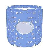 Ryyland-Home Barril de baño Plegable Barril de baño Plegable Bañera Uso en el hogar Puede ser Usado por Adultos y niños Bañera portátil Bañera portátil (Color : Purple, Size : 65x70cm)