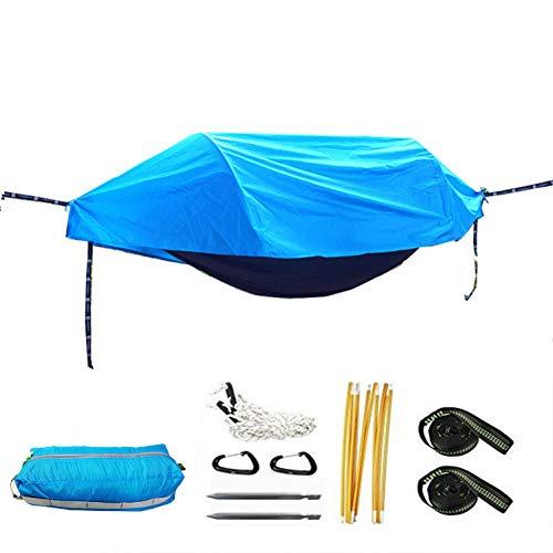 Multifonctionnel Insecte Net Coupe-Vent Ultraléger Parachute Hamac Tente Portable Camping en Plein Air 270X140 CM