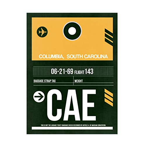 Trademark Fine Art CAE Columbia Luggage Tag II by NAXART, 24x32, Multiple
