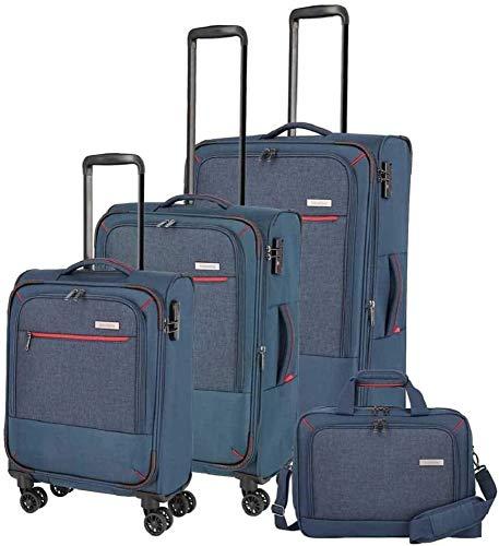 """Travelite Reisegepäck-Serie """"ARONA"""" attraktive Trolleys und Bordtaschen in 3 Farben Koffer-Set, 77 cm, 195 L, Marine"""