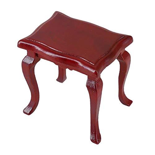 Puppenhaus-Möbel-Set, UK-Größe 1/12, Mini-Puppenhaus, Miniatur-Zubehör, europäischer Hocker, Wohnzimmermöbel