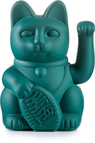 Donkey Products - Lucky Cat Green - grüne Winkekatze | Japanische Deko-Katze in stylischem matt-Farbton 15cm groß
