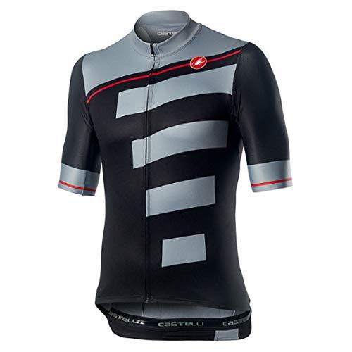 Castelli Trofeo Herren Trikot Light Black/Vortex Gray, M