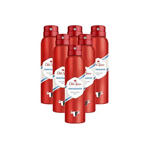 Old Spice Whitewater Deodorant Body Spray For Men, 150 ml, 6 Packs