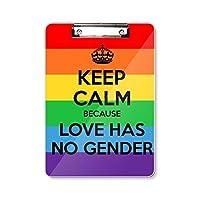 ゲイ、レズビアン、トランスジェンダーのバイセクシャルの旗 フラットヘッドフォルダーライティングパッドテストA4