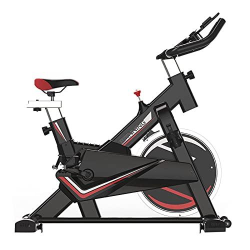 Spinning Bike Bicicleta Estática para Interior, Bicicleta De Spinning De Ejercicio Aeróbico De Gimnasio En Casa, con Pedales Antideslizantes Y Cubierta Protectora del Volante (Color : Black)