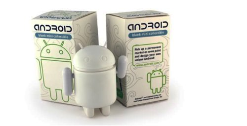 """Android Mini Collectible Figure 3"""" - Blank/White for DIY Android Robot"""