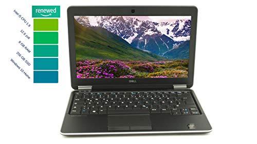 Dell - Computer portatile Latitude E7240 da 12,5 pollici ad alte prestazioni Intel Core I7-4.Gen 8 GB RAM 256 GB SSD Win 10 Home tastiera DE Intel HD Graphics 4400 | 1,36 kg Argento (rigenerato)