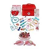 yotijar 2 Juegos de Juegos de rol para Niños - Kit de Médico de Juguete + Juguete de Comida