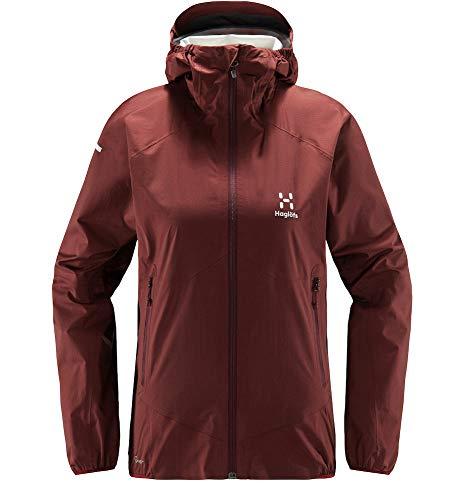 Haglöfs Regenjacke Frauen L.I.M Proof Multi Jacket wasserdicht, Winddicht, atmungsaktiv Maroon red S S