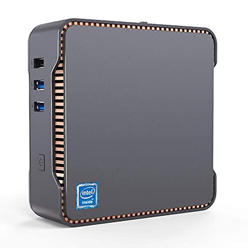 NiPoGi Mini PC,6GB RAM+128GB ROM,Intel Celeron J4125,Windows 10 Pro(64-bit) Mini Ordenador de sobremesa,Dual WiFi 2.4/5G, Bluetooth 4.2,4K HD,2 HDMI+1 VGA/USB 3.0 Port…
