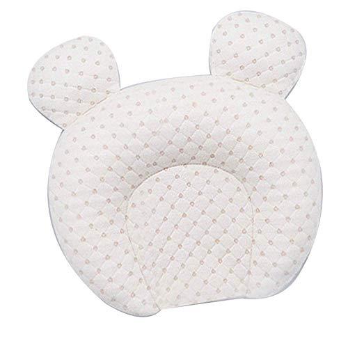 ruihong Almohada de Estilo para bebé, Almohada Anti-Cabeza, Cabeza correctora Transpirable, Cabeza 0-1, Almohada de látex para bebé recién Nacido