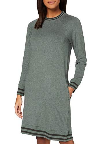 Schiesser Damen Sleep + Lounge Loungedress 1/1 Arm Nachthemd, Khaki-Mel, 48