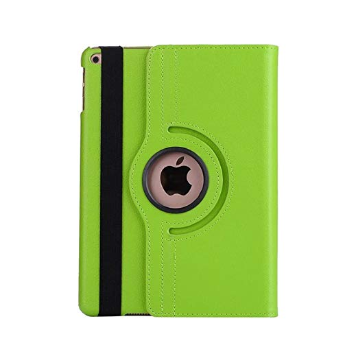 QiuKui Tab Cover Smart Cover for ipad Air 1/2, 360 Degree Rotating Case For New iPad 9.7 2018 2017 ipad 5th/6th Tablet Stand Shell+Stylus+film (Color : Green)