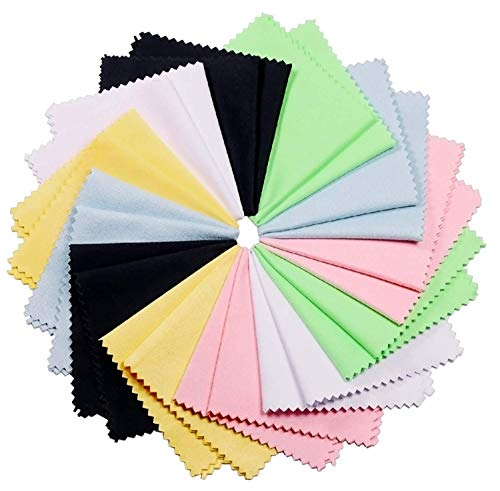 12 Pack Microfiber Cleaning Cloth Multicolor for Eyeglasses amp Glass Camera Lens Cell Phones Laptops LCD TV Screens and More