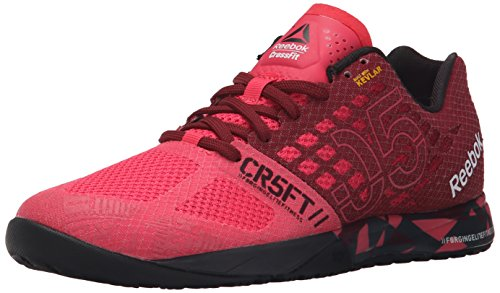 Reebok Women's Crossfit Nano 5.0 Training Shoe, Fearless Pink/Merlot/Black/Coal, 6 M US