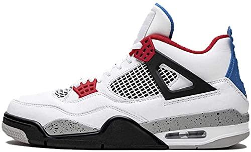 CPBY 2021 Zapatos De Baloncesto Men4 Zapatos Deportivos Resistentes Al Desgaste De La Descompresión Transpirable, White-Gray-Red - 8.5