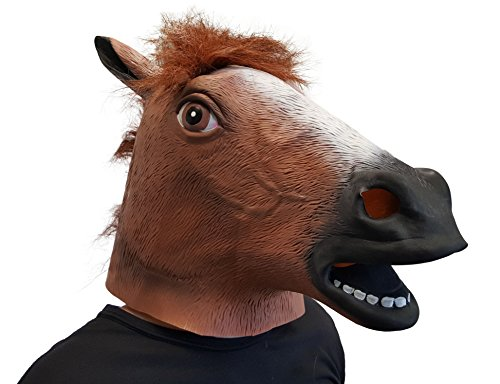 Dondor Horses Head Costume Mask (Horse) Brown