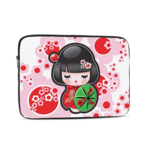Laptop Pro Accessories Cute Cartoon Geisha with Japan Travel Mac Book Case Multi-Color & Size Choices10/12/13/15/17 Inch Computer Tablet Briefcase Carrying Bag