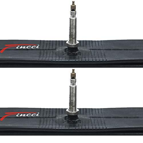 Fincci Paire de Chambre à Air Mountain Vélo de Route Hybride Butyle Tubes 700 x 18-25 C 60 mm Presta Valve