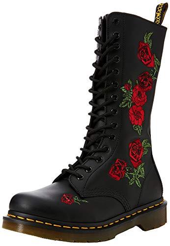 Dr. Martens Unisex-Erwachsene 1460 Patent Red Combat Boots, rot, Einheitsgröße, Schwarz, 41