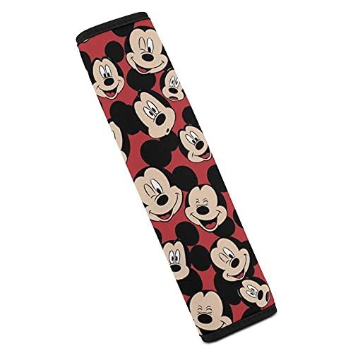 Funda para cinturón de seguridad de Mickey Mouse Minnie para coche, lavable, suave, duradera, universal, compatible con todas las correas de hombro de coches