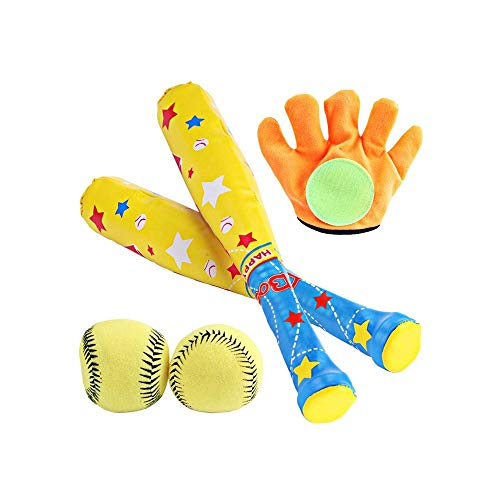 SYXX Kinder Baseball-Spielzeug-Set, EVA Schaum Sicherheit Sport Baseball, Eltern-Kind-Spiele Outdoor Indoor Sport Softball-Schläger, Gymnastikball Spielzeug, Kindergarten Sportaktivitäten Supplies