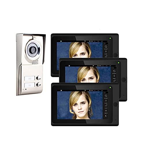 XINTONGSPP Timbre, WiFi de 7 Pulgadas Video Inteligente Doorbell Grabación de Video Teléfono Teléfono Teléfono Intercomunicador IR-Cut HD 1000tvl Camera Timbre