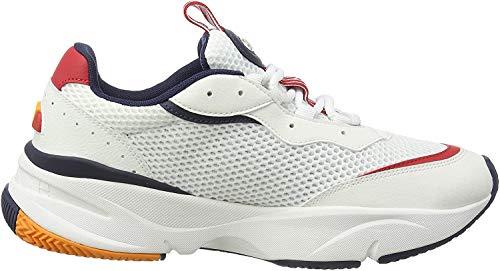 ellesse Herren Massello Sneaker, Mehrfarbig (White/Red/Dark Blue Wht/Red/Dk Blu), 43 EU