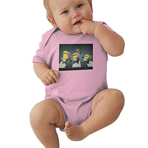 GHYGTY Mini-Ons Baby-Strampler für Neugeborene, superweiche Baumwolle, kurzärmelig, Jersey, Schwarz Gr. 56, rose
