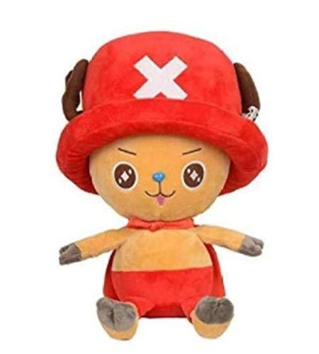 N/C Plüschtier One Piece Sailing King Cartoon Comic Puppe Plüsch Schnuller Kissen Ultra weich 45 cm Red Hat Choba