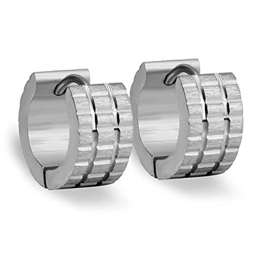 Pendientes de aro de acero inoxidable 316 Pendientes redondos de joyería de moda para mujer