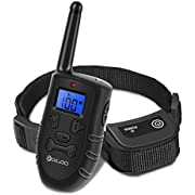 DIGOO Dog Training Collar, PPT1 Rechargeable and Waterproof 330yd Remote Dog Shock Collar with Beep, Vibration and Stimulation Electronic Collar, Fit Dogs (10Lbs-150Lbs) 3 Collar Paired