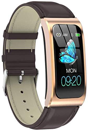 SHIJIAN Pulsera inteligente de moda con pantalla a color. Reloj impermeable Podómetro Monitor de actividad Correa deportiva Regalos para hombres y mujeres-F