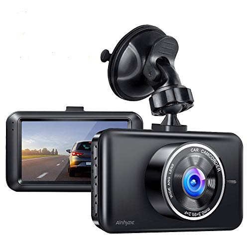 Ainhyzic Dash Camera for Cars 1080P Full HD Car Driving Recorder 3-Inch LCD Screen with Super Night Vision, 170° Wide Angle, Loop Recording, WDR, G-Sensor, Parking Monitor, Motion Detection