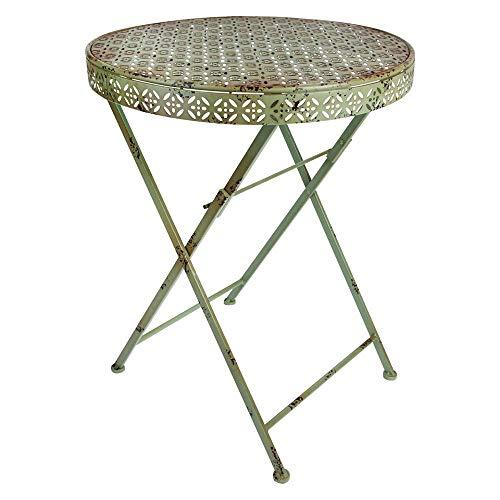linoows Gartentisch, Tisch im Industriedesign, Retro Balkontisch, Bistro Tisch aus Eisen