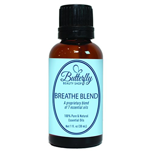 Breathe Blend (30mL). A Combination of 7 Essential Oils Designed to Increase The Lungs Capacity to Breathe.