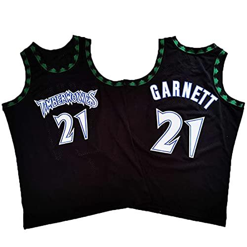 XGYD Garnett # 21 - Camiseta de baloncesto para hombre, diseño clásico, transpirable, con bordado de malla sin mangas, edición conmemorativa clásica L