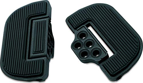 Kuryakyn 4357 Motorcycle Foot Control Component: Ribbed Folding Boards for Driver or Passenger Floorboards, Wrinkle Black, 1 Pair