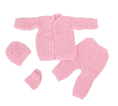 Fashion Cute Newborn Baby Boy's Girl's Unisex Warm Winter 4 Pieces Crochet Set