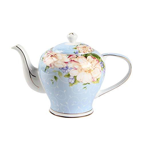 POTOLL Tetera con Colador Tetera fría Cerámica a Prueba de Calor Juego de té de Tetera Tetera Fría Caldera Hueso Porcelana @a