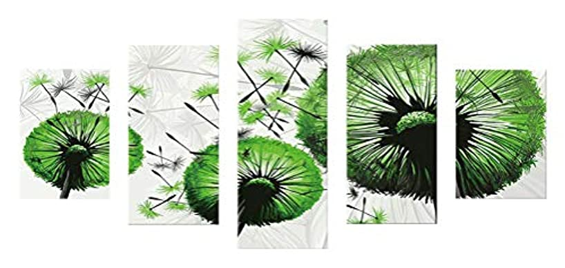SuperDecor Diamond Painting DIY 5D Diamond Painting Kit by Number Kits, Full Drill Paintings Pictures Arts Craft for Adults or Kids, Green Dandelion